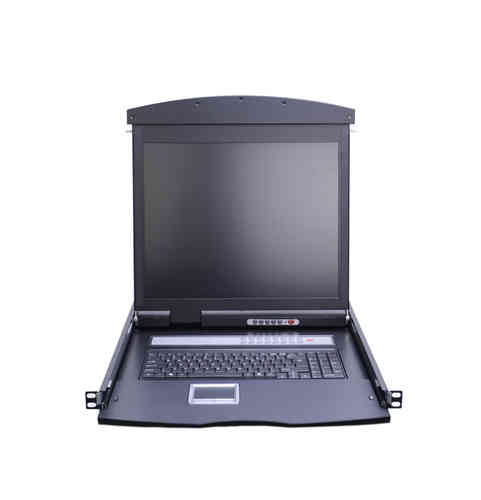 Lanbe AS-9116TLD-IP - 19'' KVM Konsole, Dual Rail, 16 Port Cat5 IP-KVM