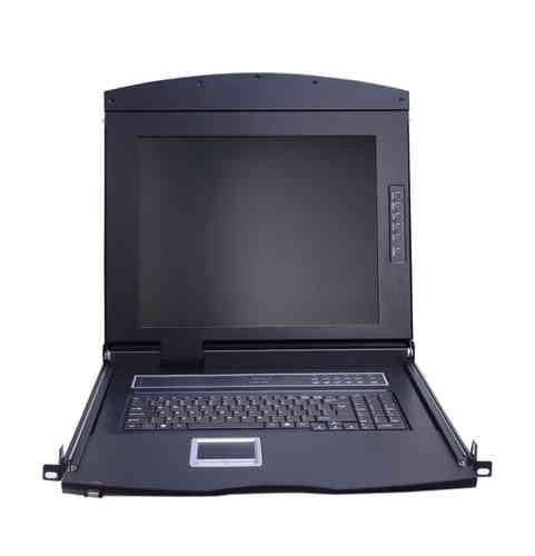 Lanbe AS-7104TLS - 17'' TFT LCD Schublade, 4 Port Cat.5 KVM-Switch