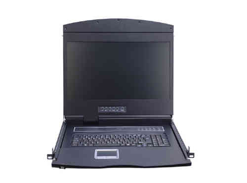 Lanbe AS-9116ULS-IP - 19'' KVM Schublade, 16 Port VGA IP-KVM-Switch