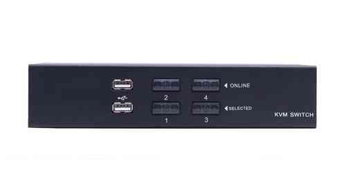 Lanbe AS-41UA - 4 Port VGA/USB/Audio Desktop KVM-Switch