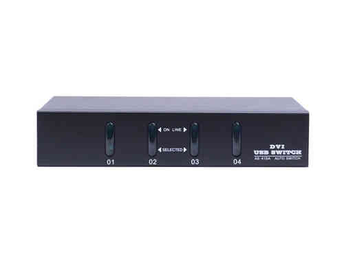 Lanbe AS-41DA - 4 Port DVI/USB/Audio Desktop KVM-Switch