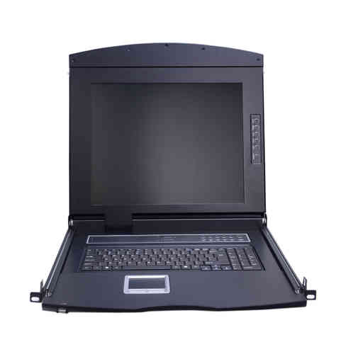 Lanbe AS-7100DLS - 17'' TFT LCD Konsole, 1 Port DVI KVM-Switch
