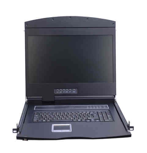Lanbe AS-9108DLS - 18,5'' TFT LCD Konsole 8 Port DVI KVM-Switch