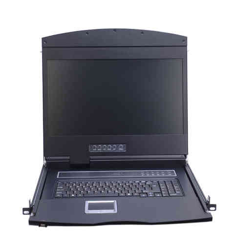 Lanbe AS-9116HD-TLS-IP - 18,5'' FHD TFT Konsole 16 Port Cat.5 KVM-Switch